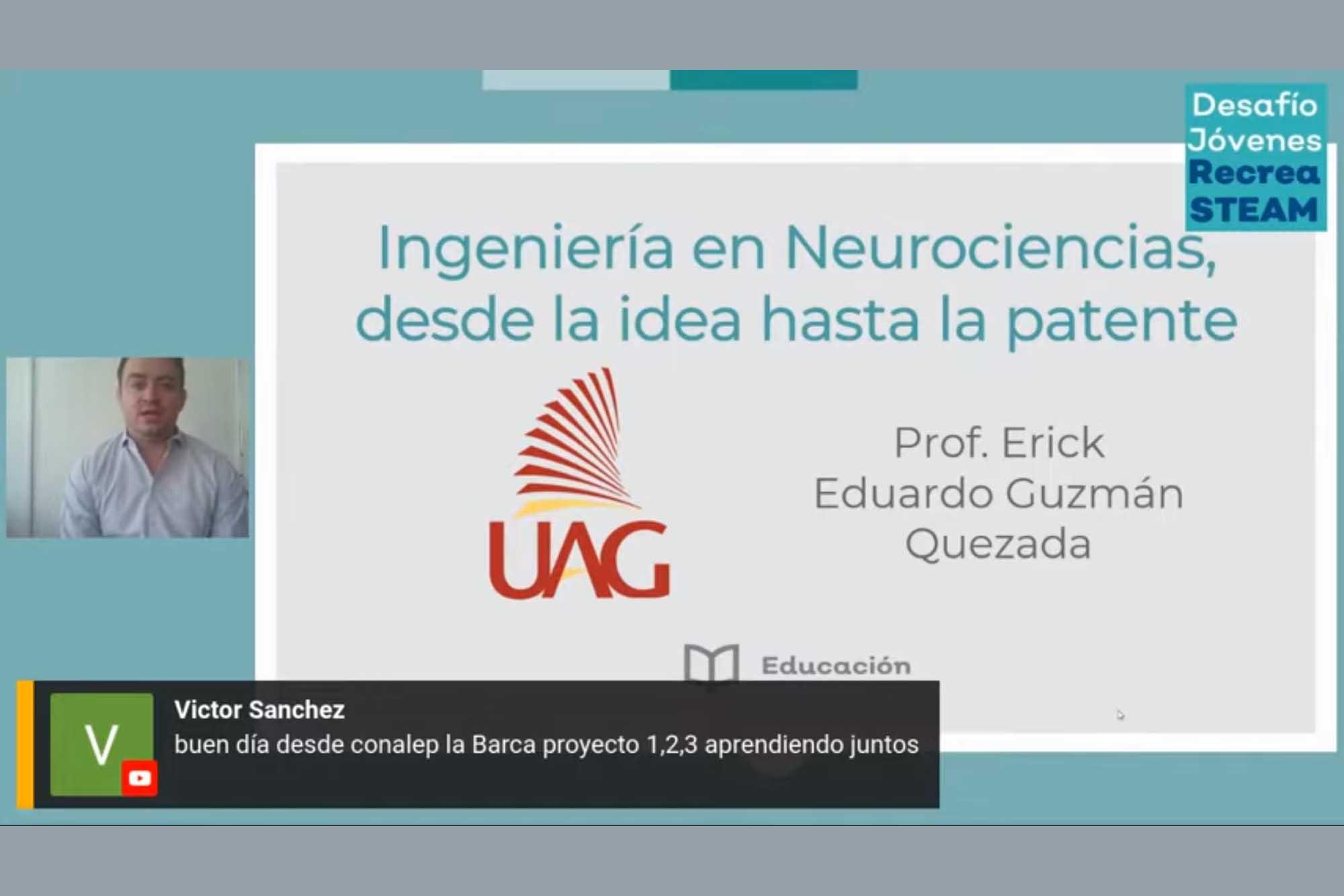 Académico de la UAG habla sobre neurociencias 280421